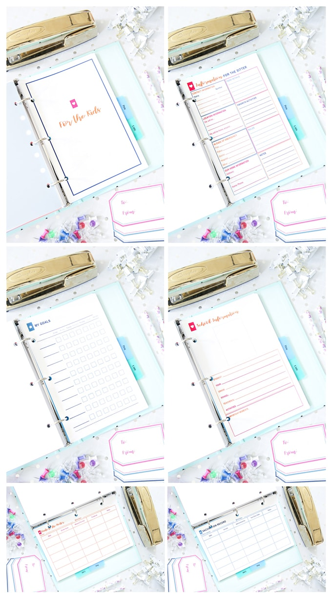 Kids Organization, Simplify Home Binder, Home Organization- Home Binder and Planner Tour, organization, organizational printables, organized, productivity, planning, productive, pretty printables, organize your life, organized life, home management binder, how to get organized
