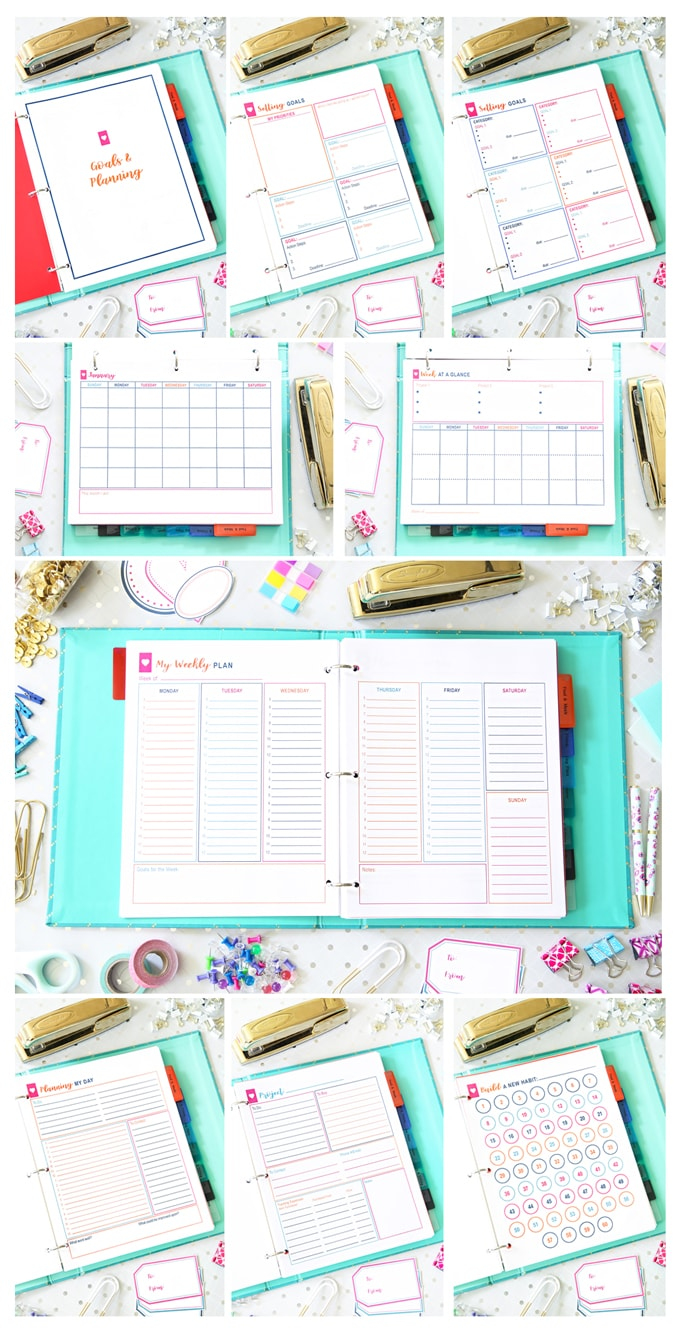 Simplify Home Binder, Goals and Planning, Home Organization- Home Binder and Planner Tour, organization, organizational printables, organized, productivity, planning, productive, pretty printables, organize your life, organized life, home management binder, how to get organized