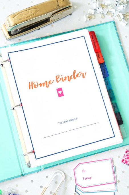 Simplify Home Binder Cover, Home Organization- Home Binder and Planner Tour, organization, organizational printables, organized, productivity, planning, productive, pretty printables, organize your life, organized life, home management binder, how to get organized
