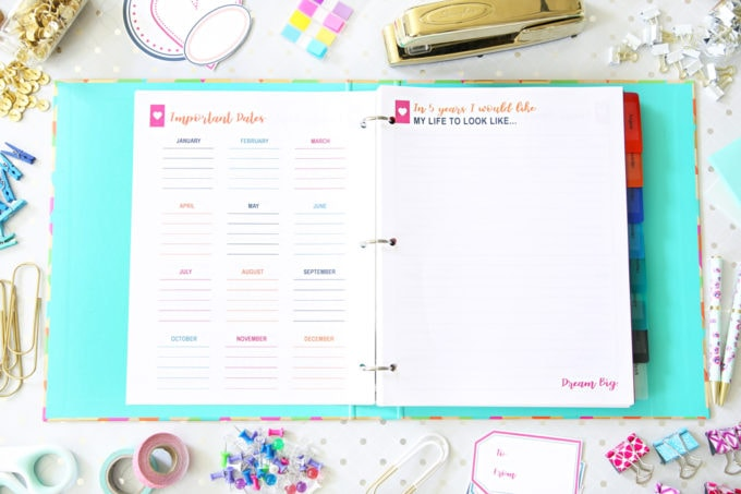 5 Year Plan, Goal Setting, The Intentional Life Planner, Home Organization- Home Binder and Planner Tour, organization, organizational printables, organized, productivity, planning, productive, pretty printables, organize your life, organized life, home management binder, how to get organized
