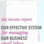 July 2016 Traffic and Income Report
