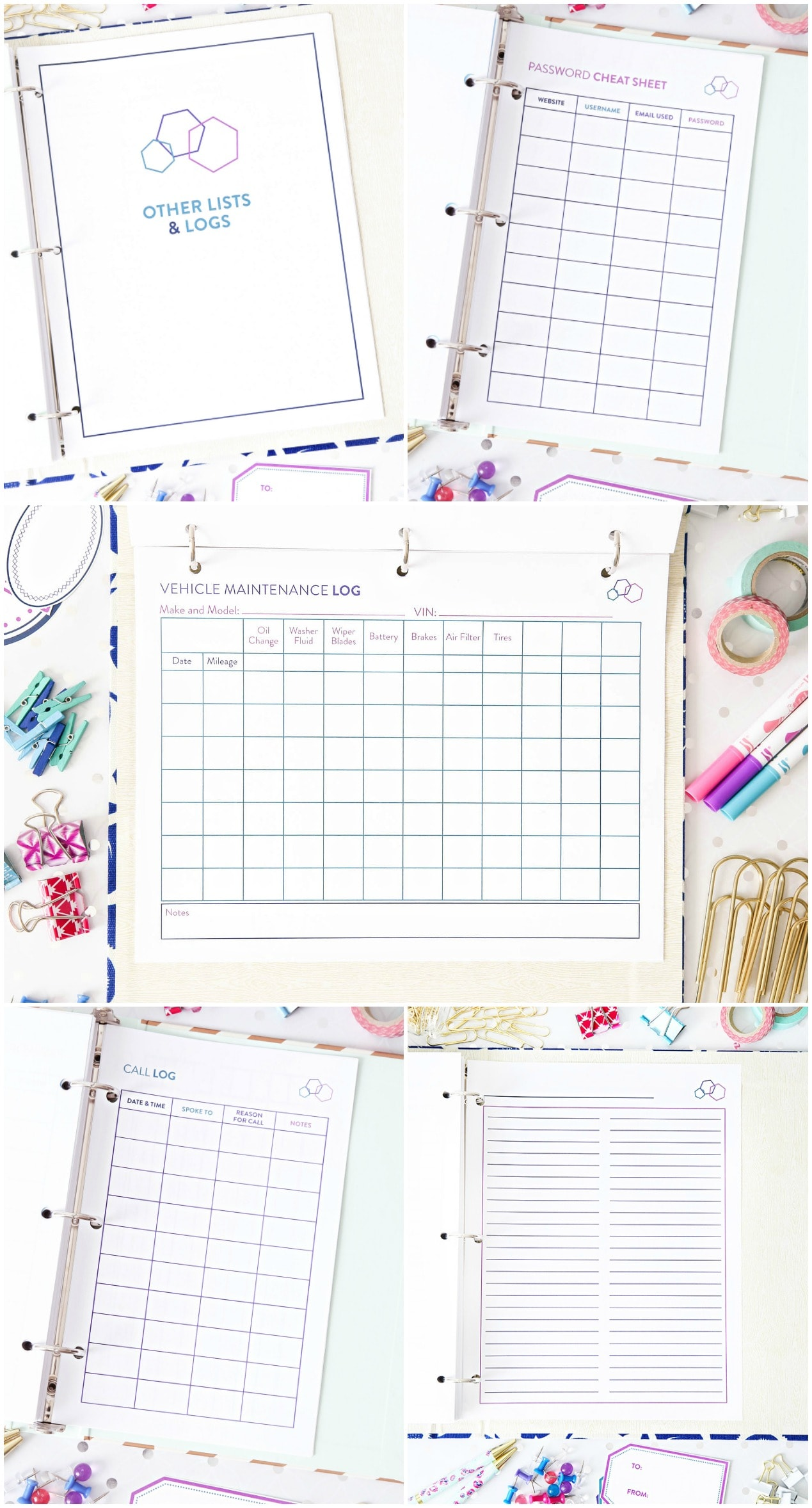 These beautiful printables will help you get organized for good! Click through to the post to read more!