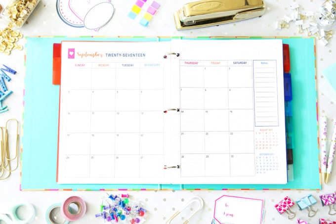 Monthly Calendar, Goal Setting, The Intentional Life Planner, Home Organization- Home Binder and Planner Tour, organization, organizational printables, organized, productivity, planning, productive, pretty printables, organize your life, organized life, home management binder, how to get organized