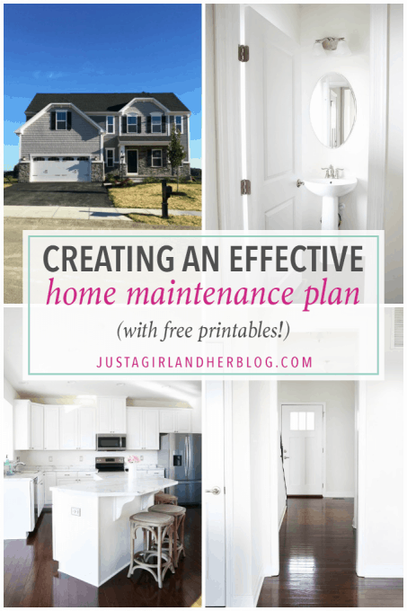 Love this free printable home maintenance checklist that helps me remember when to do certain chores and tasks in the house! Click through to to the post to print it out!