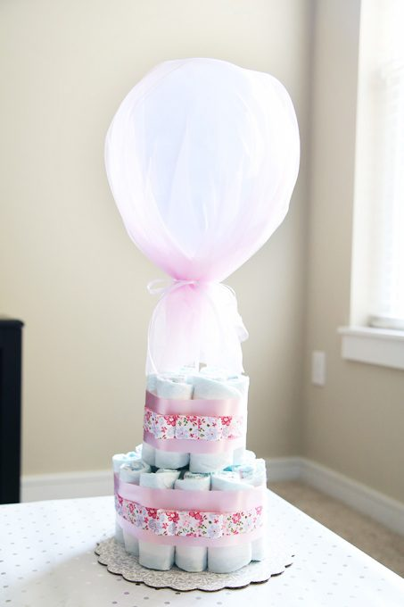 How To Make A Diaper Cake With Tulle