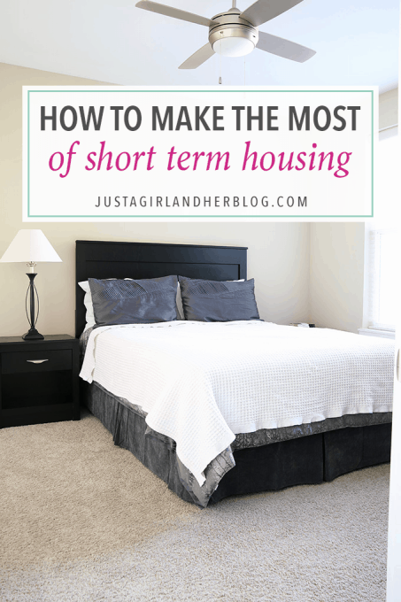This post offers great tips for making that awkward period between houses more manageable! Click through to the post to learn how to make the most of short term housing!