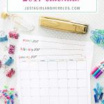Free Printable 2017 Calendar!