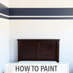 How to Paint Perfect Stripes {One Room Challenge, Week 3}
