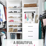 A Beautiful and Organized Master Closet – The Reveal!