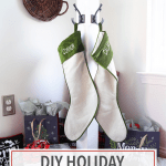 DIY Holiday Stocking Post