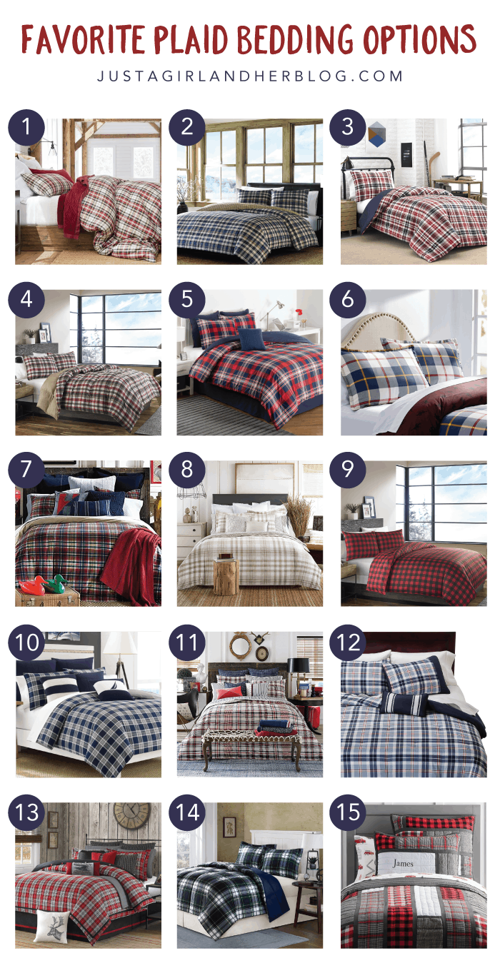free overstock product shipping plaid bed ddca eddie piece bauer navigation bedding cotton comforter today set bath