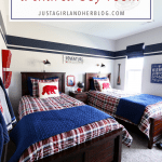 Let's Go Adventuring: A Shared Boy Bedroom {One Room Challenge Reveal!}