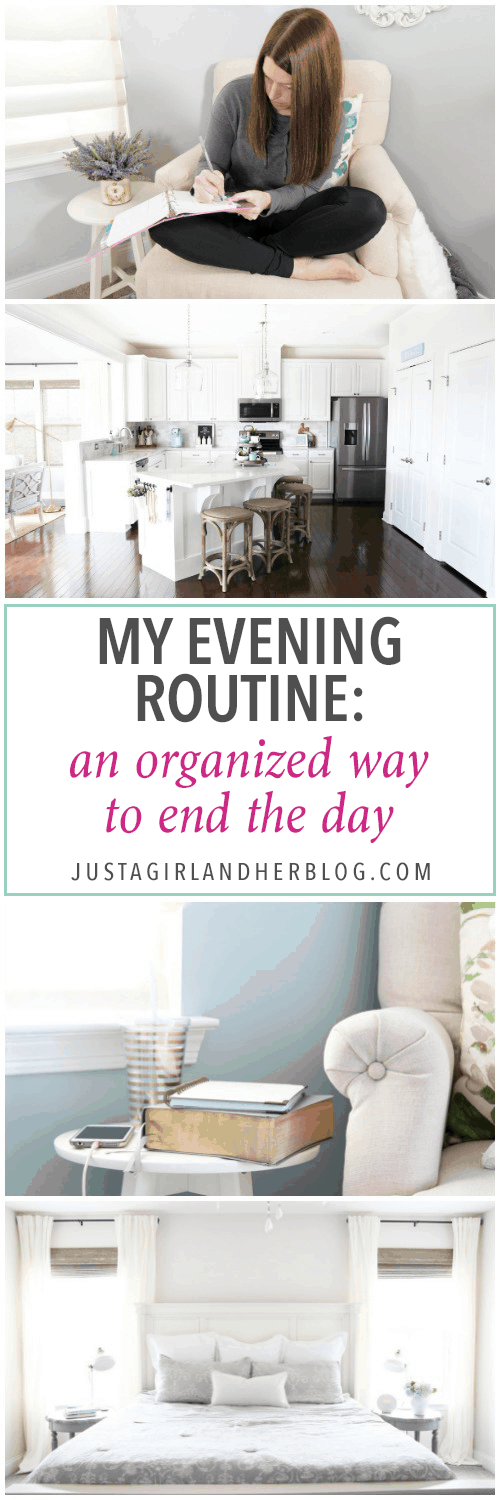 My evening routine helps me set myself up to be more productive and organized the next day by maintaining intentional habits! | evening routine, productivity, productive, habit, habits, routines, white kitchen, clean kitchen, neat and tidy, My Evening Routine: An Organized Way to End the Day
