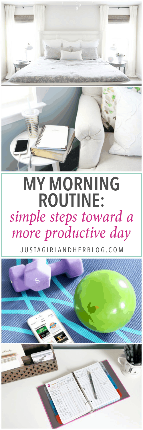 My morning routine helps me be more productive and organized throughout the rest of my day by maintaining intentional habits! | morning routine, productivity, productive, habit, habits, routines, planner, planning, time blocking, My Morning Routine Simple Steps Toward a More Productive Day