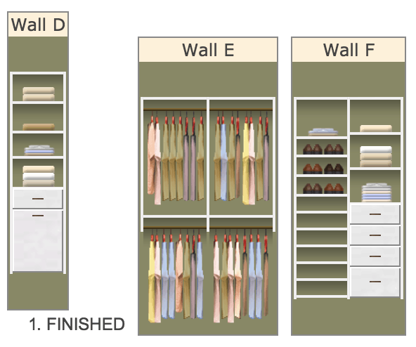 Love This Plan For A New Custom Walk In Closet With Easyclosets Click Through