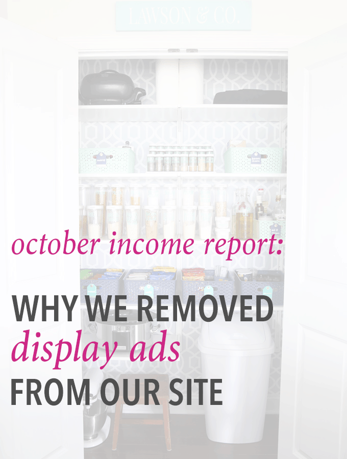 This blogger removed display ads from her site and still had her best income month ever! Click through to see her full income report-- it's incredible!
