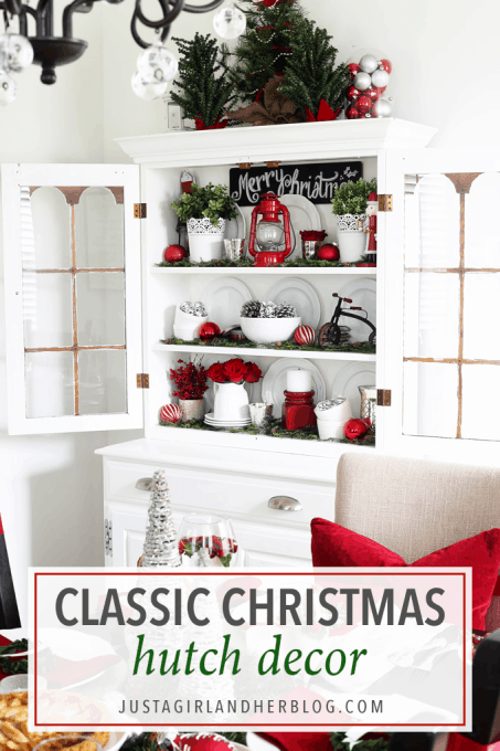 A Decked + Styled Christmas Hutch