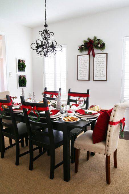 Home Decor Christmas Dining Room Holiday