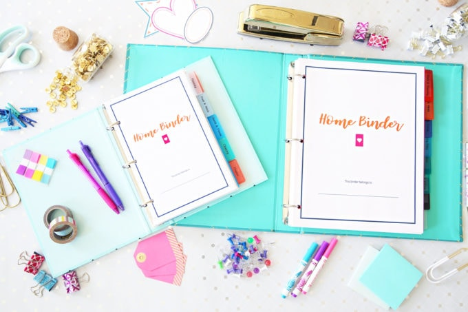 Home Organization- Home Binder Printables, organize your life with a home binder packed full of helpful printables for every area of your home and life, get organized, how to organize your life, get organized with pretty printables