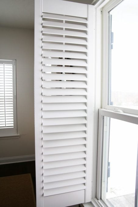 How to measure for and install plantation shutters just a girl and home decor diy plantation shutters wooden shutters shutter installation shutter measurements solutioingenieria Gallery