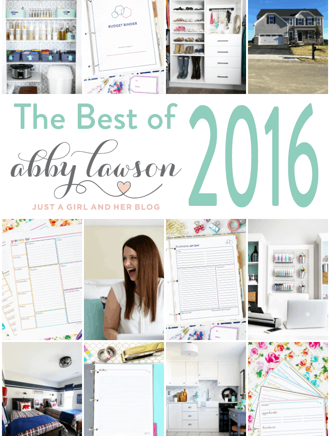 The Best of Just a Girl and Her Blog 2016- There are so many helpful organization posts in this roundup! Click through to the post to see them all!