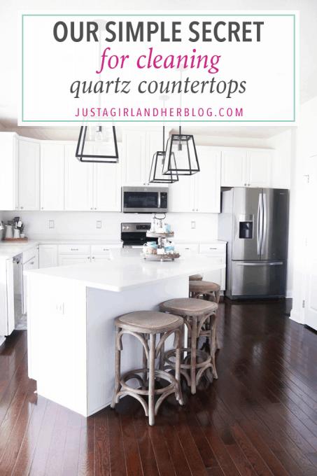 Our Simple Secret for Cleaning Quartz Countertops