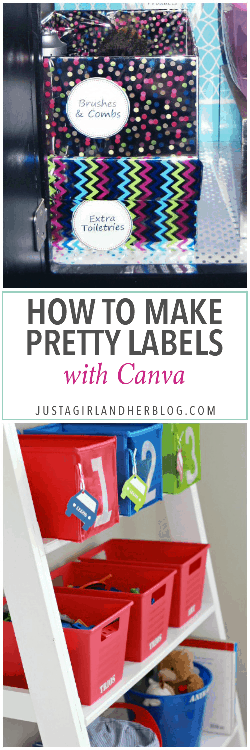 How to make pretty labels with canva just a girl and her blog for Canva labels