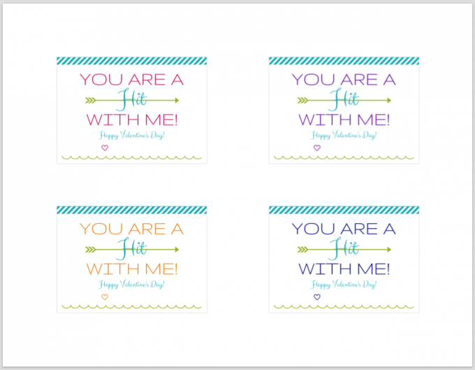 Holiday and Party- Free Printable Valentines, Valentine's Day Printables, You Are a Hit with Me Valentines, Friend Valentines, Printable Cards, Free Printables