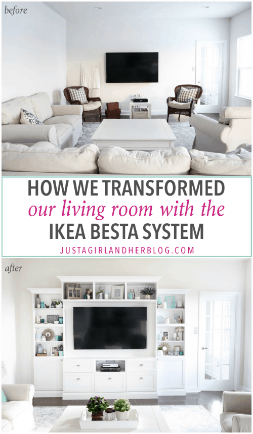 Transforming Our Living Room With IKEA BESTA Built Ins Part 43