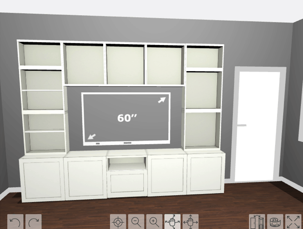 Design for wall unit in living room