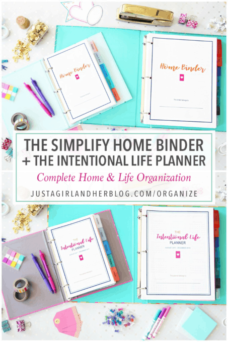 Organize Your Life with Pretty Printables! justagirlandherblog.com/organize