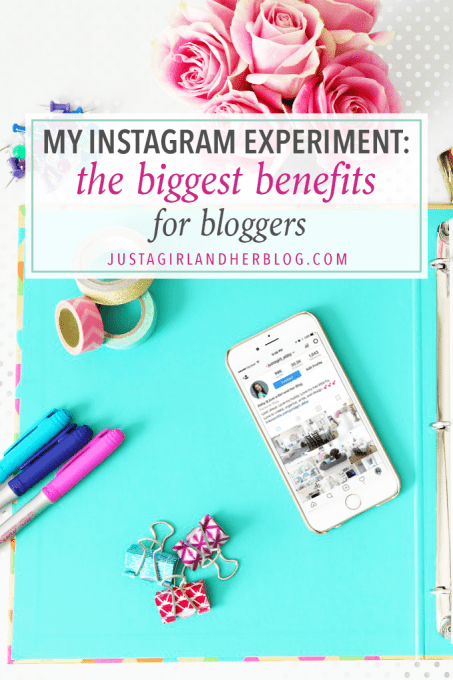 My Instagram Experiment: The Biggest Benefits for Bloggers