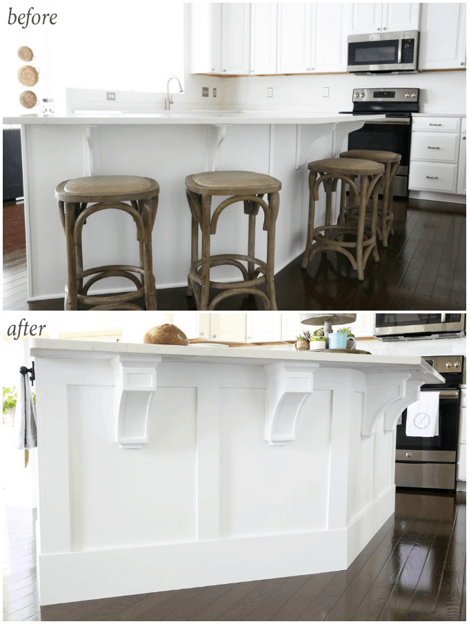 Diy Kitchen Island Trim Craftsman Trim Wood Corbels