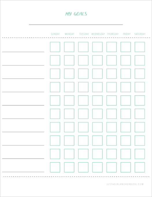 Chore Chart- Free Printable for Kids