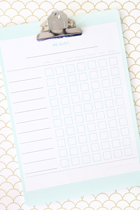Free Printable Chore Charts for Kids, Goal Charts