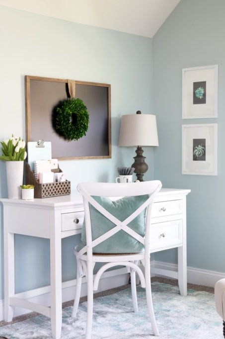 Office Decorating Ideas Blog home- cozy office nook, feminine home office, organized home office, small  office