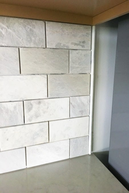 How to Install a Marble Subway Tile Backsplash Just a Girl and