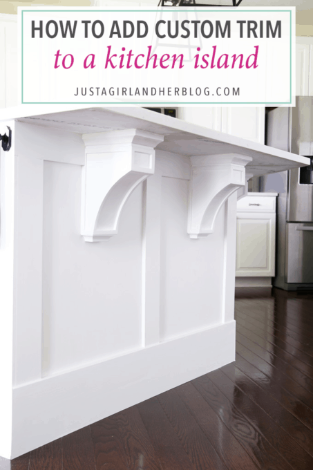 How to Add Custom Trim to a Kitchen Island - Just a Girl and Her Blog