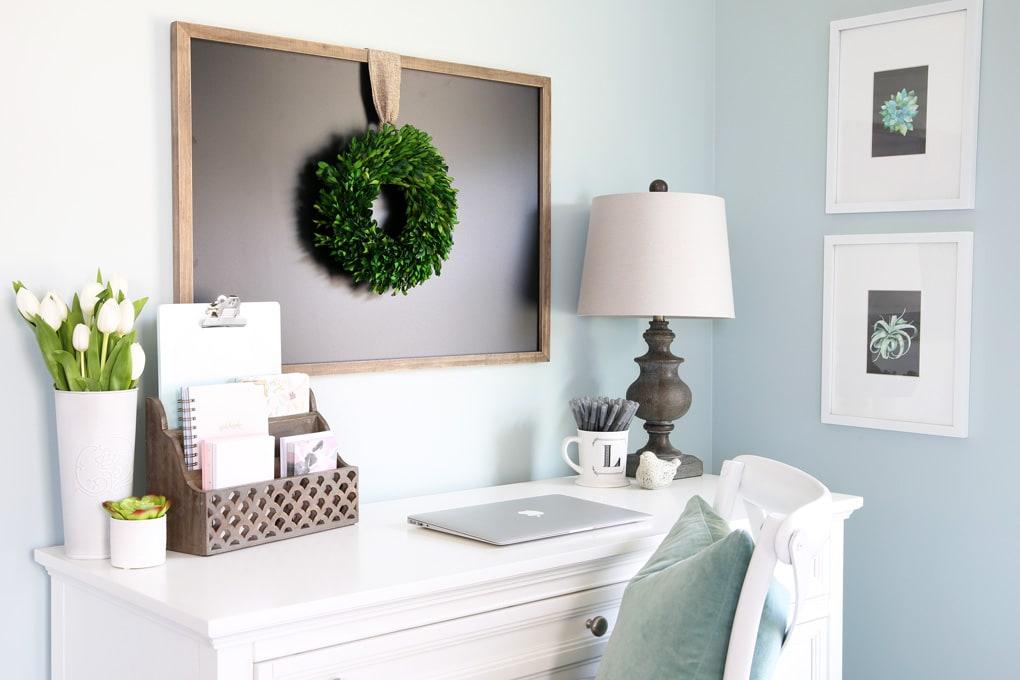 Home- Cozy Office Nook, Feminine Home Office, Organized