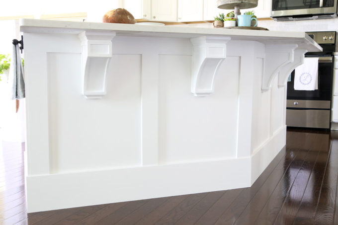 How To Add Custom Trim To A Kitchen Island Just A Girl