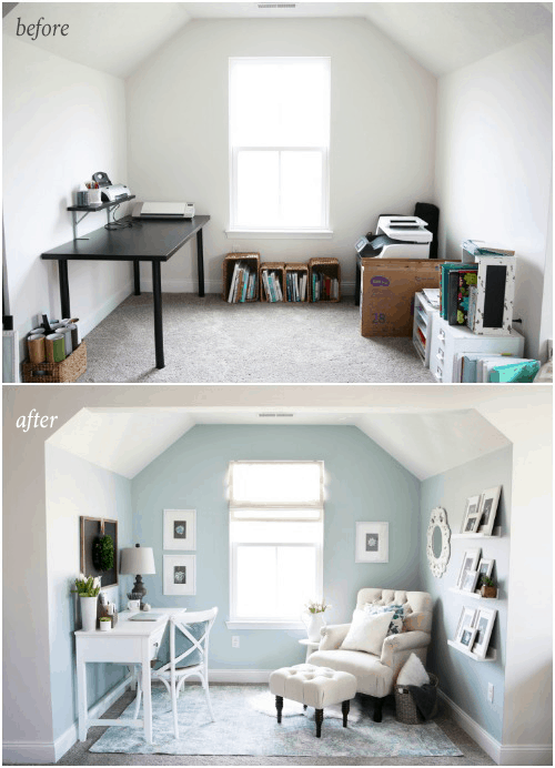 Home  Cozy Office Nook, Feminine Home Office, Organized Home Office, Small  Office