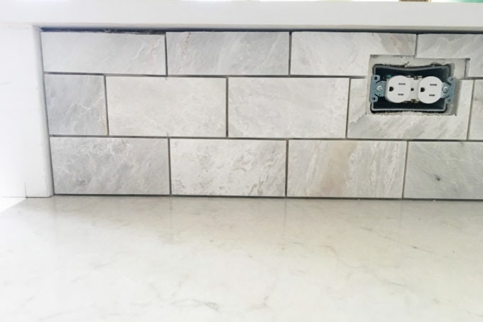 DIY- How to Install a Marble Subway Tile Backsplash, tiling tips, subway tile, backsplash tile, marble tile, DIY tiling, kitchen DIY projects, how to tile