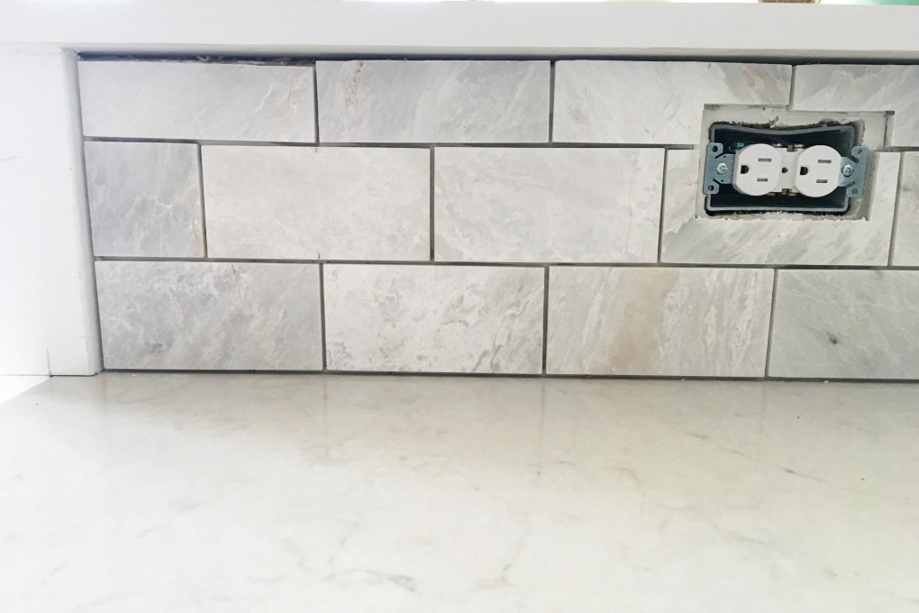 DIY- How to Install a Marble Subway Tile Backsplash, tiling tips ...