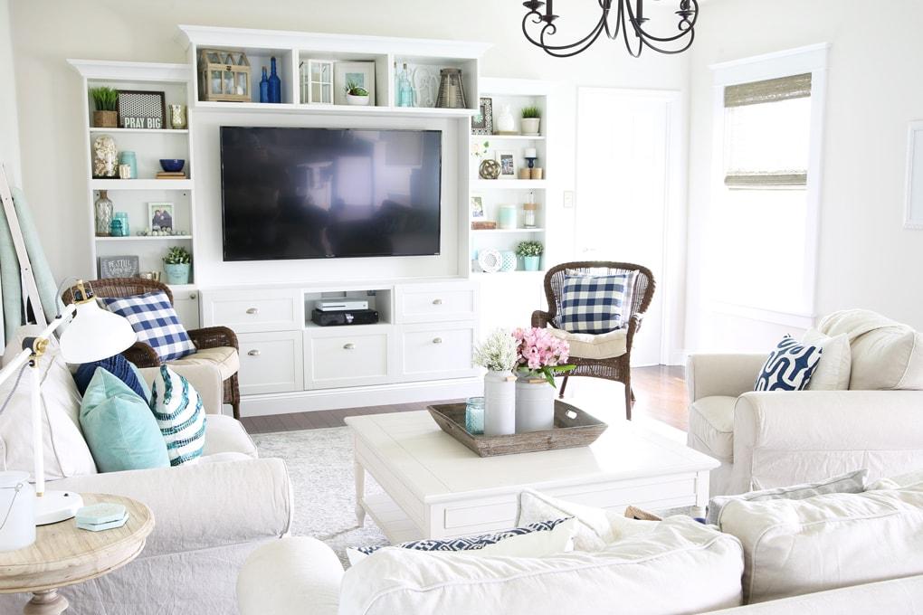 Home Simply Summer Living Room Home Tour Coastal Living