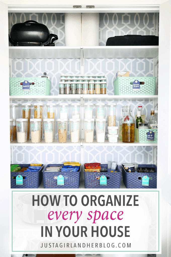 Home organization- How to Organize Every Space in Your House, declutter, organizing, small space organization