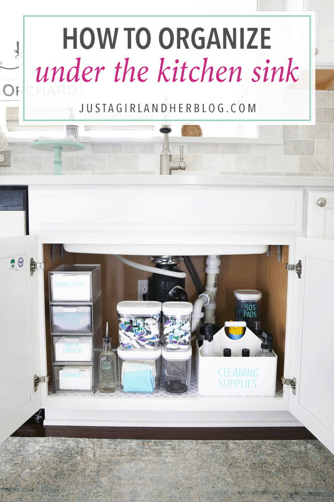 How To Organize Under The Kitchen Sink Abby Lawson