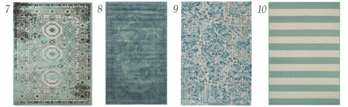 10 Beautiful and Affordable Aqua Area Rugs Just a Girl and Her Blog