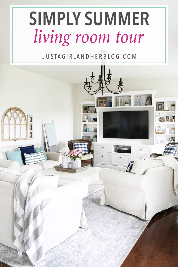 Simply Summer Living Room Just A Girl And Her Blog Stunning Living Room Shows Property