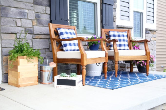 Home- Summer Front Porch Decor, Outdoor Decor, Summer Decorating, Ryan Homes, Palermo, Craftsman Style Home, Exterior Styling, How to Decorate a Porch for Summer