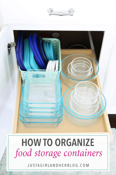 Home Organization- How to Organize Food Storage Containers Tupperware leftovers containers kitchen  sc 1 st  Just a Girl and Her Blog & How to Organize Food Storage Containers / Tupperware - Just a Girl ...